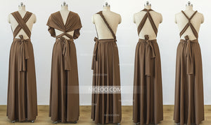 Brown Convertible Bridesmaid Dresses, Infinity Dresses, Multiway Dresses