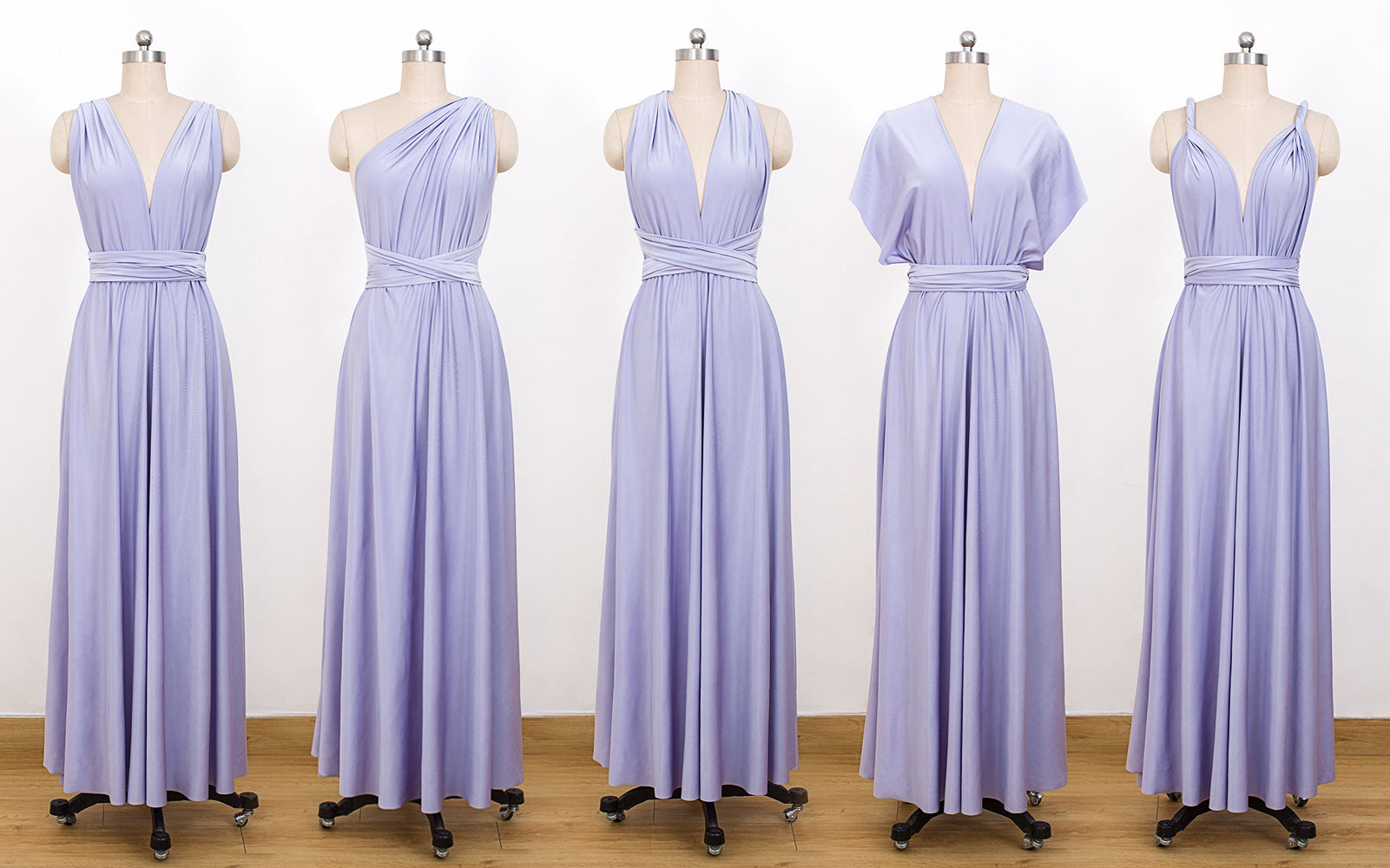 842c47326cdc Lavender Convertible Bridesmaid Dresses,Infinity Dresses, Multiway Wrap  Dresses - NICEOO