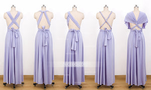 Lavender Convertible Bridesmaid Dresses,Infinity Dresses, Multiway Wrap Dresses - NICEOO