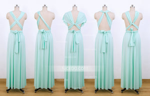 Mint Green Multiway Bridesmaid Dresses,Convertible Dresses, Infinity Dresses - NICEOO
