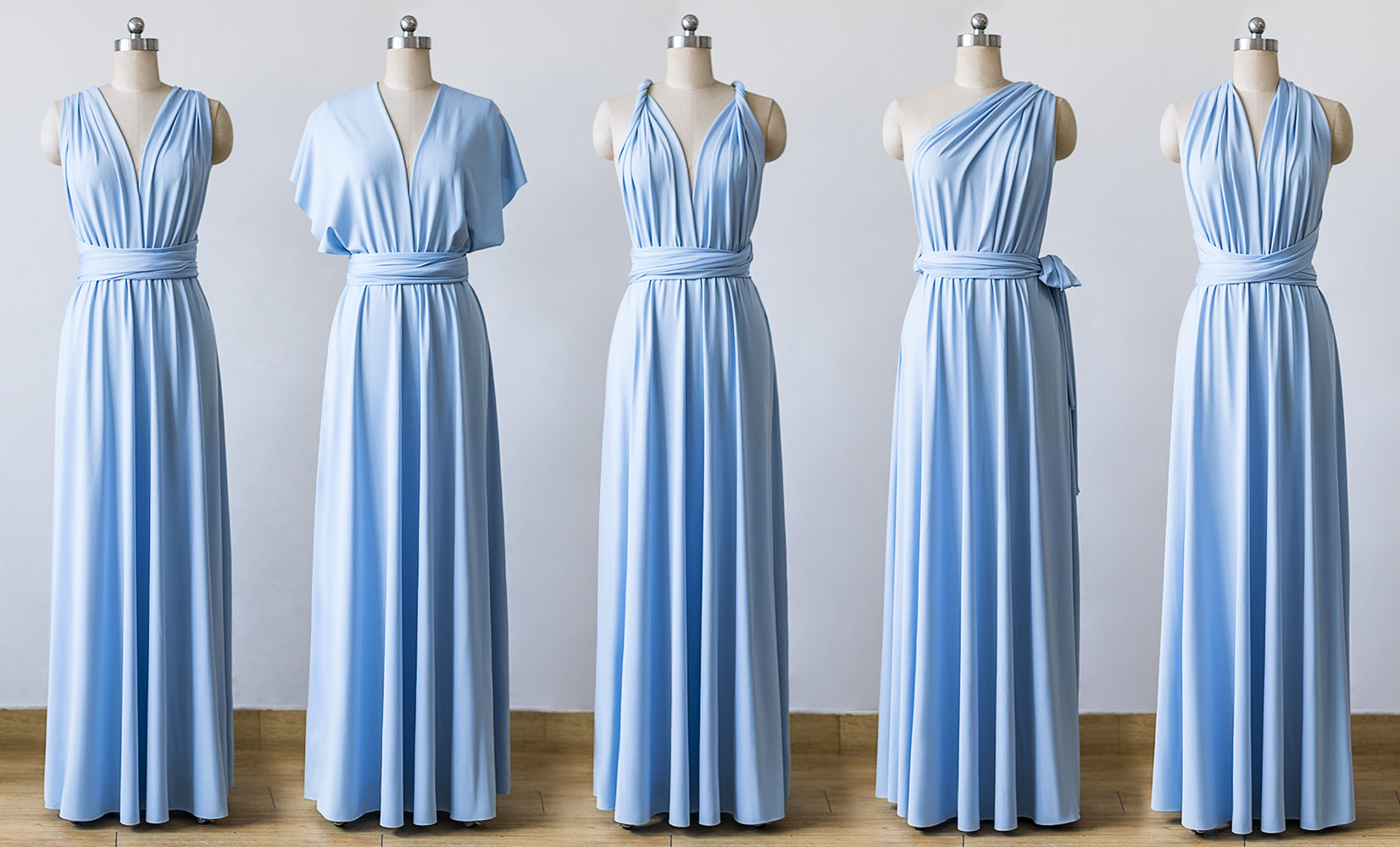 f671fe3331 Light Blue Maxi Infinity Bridesmaid Dresses