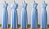Light Blue Maxi Infinity Bridesmaid Dresses,Convertible Dresses, Multiway Wrap Dresses