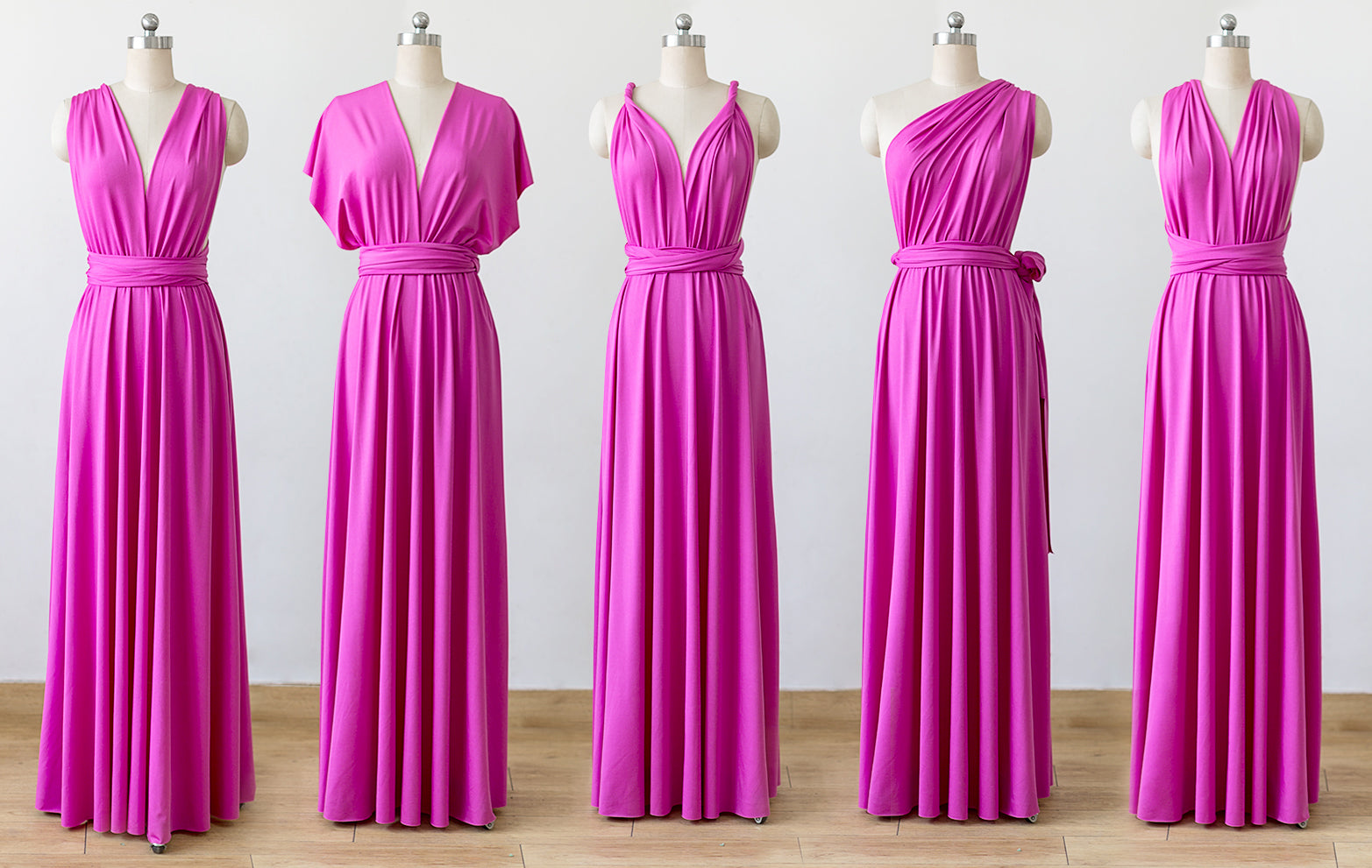 Hot Pink Convertible Bridesmaid Dresses Infinity Dresses Multiway Dr Niceoo