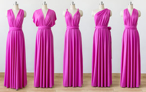 Hot Pink Convertible Bridesmaid Dresses ,Infinity Dresses, Multiway Dresses
