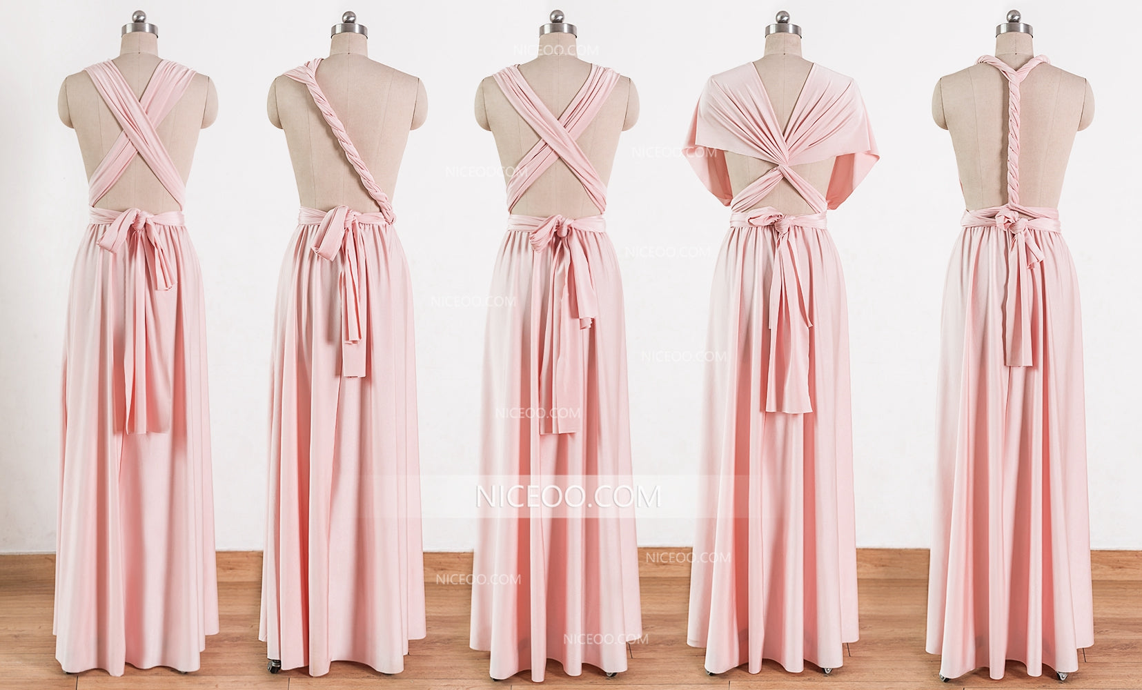 Blush Pink Wrap Bridesmaid Dresses Off 52 Mlrinstitutions Ac In