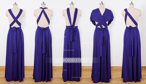 Purple Infinity Dresses,Convertible Dresses, Multiway Bridesmaid Dresses - NICEOO
