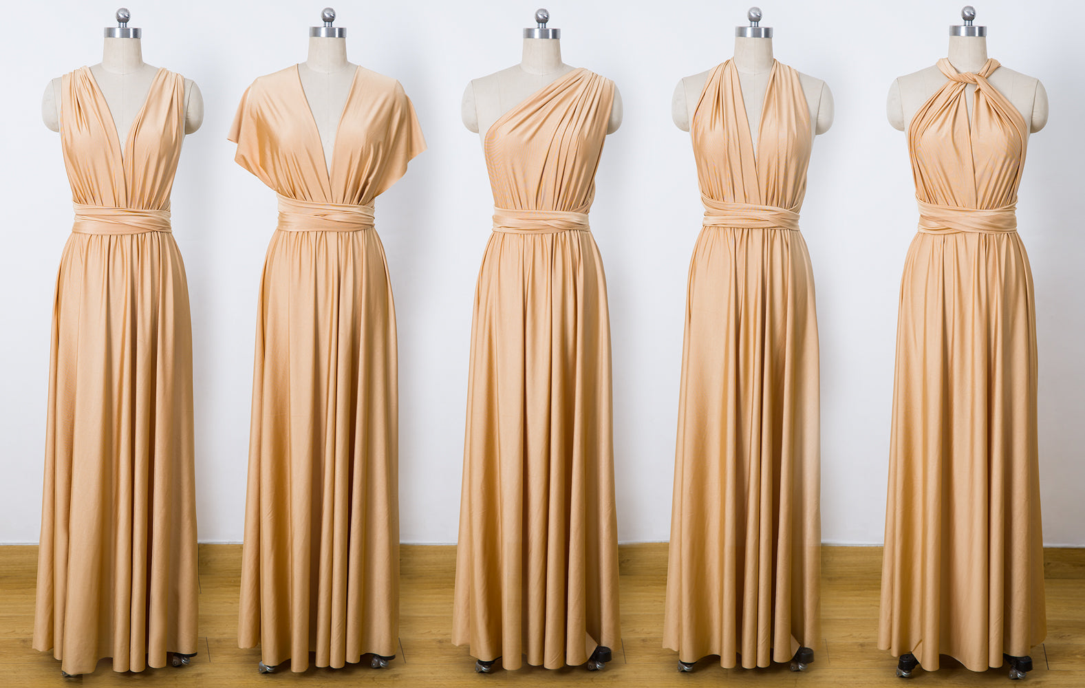 Gold Convertible Bridesmaid Dresses