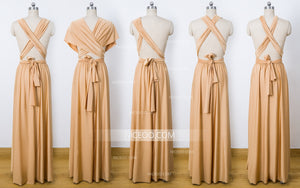 Gold Convertible Bridesmaid Dresses,Infinity Dresses, Multiway Wrap Dresses