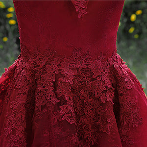 Cheap Burgundy Off Shoulder Homecoming Dresses With Lace Appliques