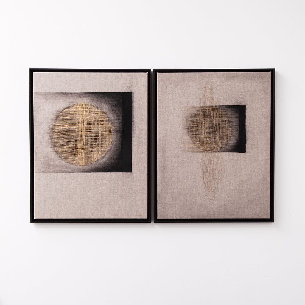Full Eclipse and Original Eclipse (Diptych)
