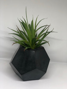 Large charcoal dodecagon  planter
