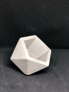 Medium grey Icosahedron planter
