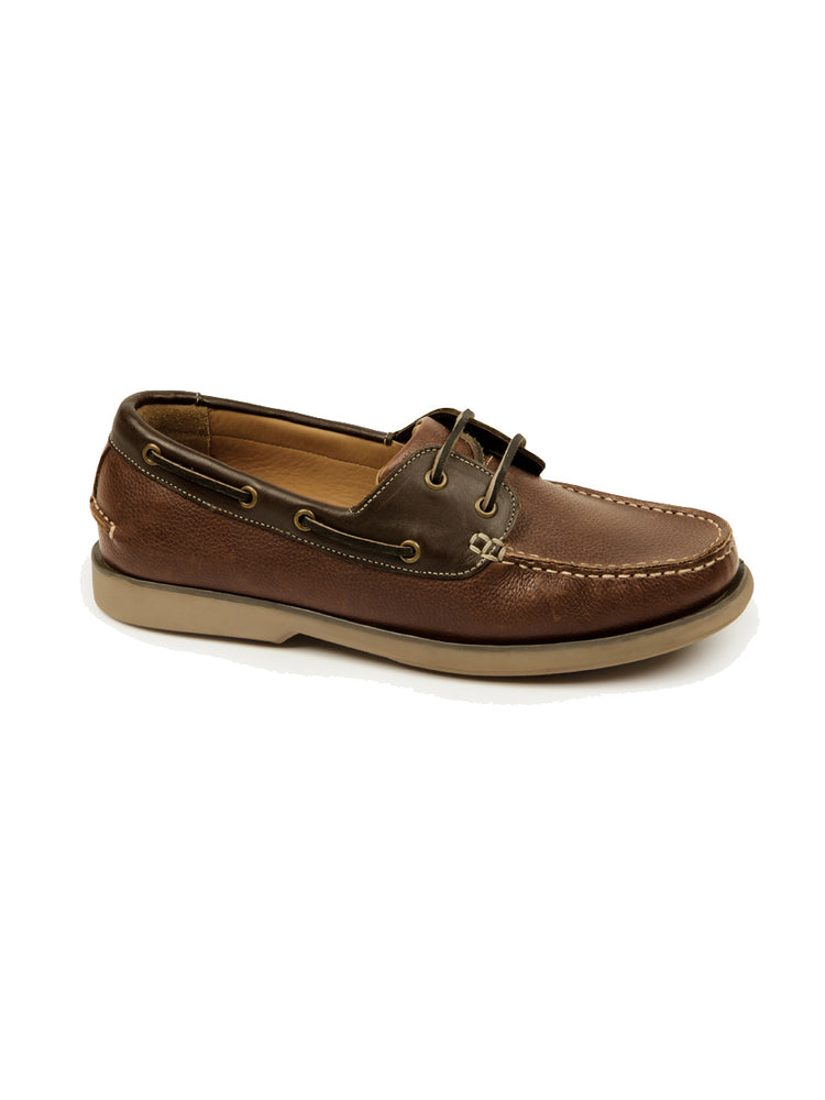 Classic Deck Shoe - Brown Grained