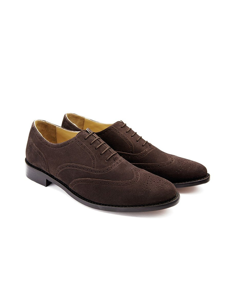 Classic Cheltenham Brogue in Suede