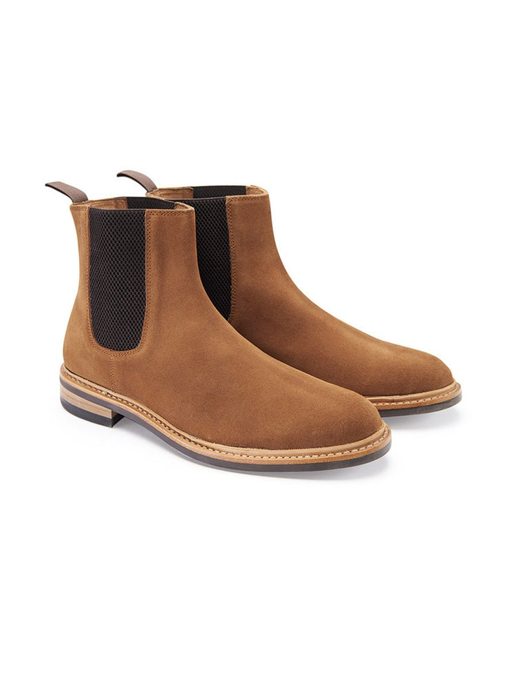 Prestige Suede Chelsea Boot - Brown