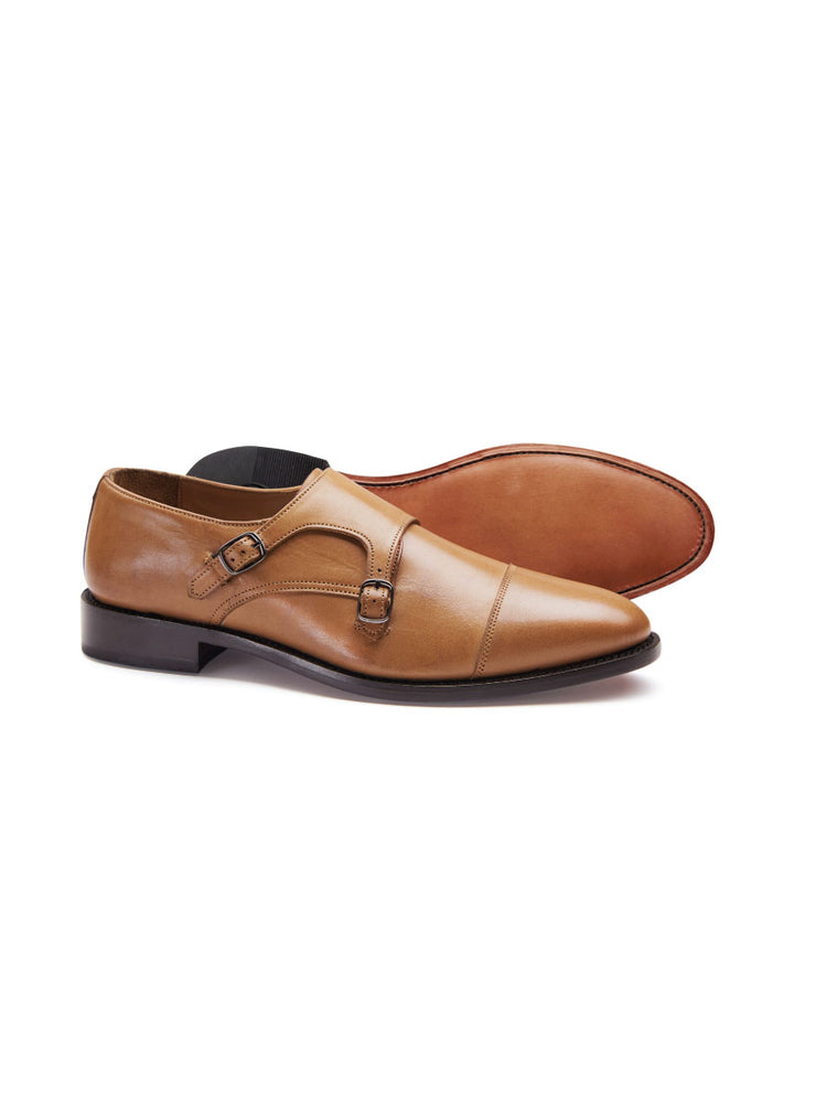 Prestige Twin Monk Shoe - Tan