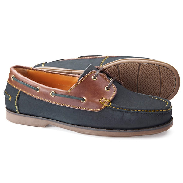 Classic Deck Shoe - Navy/tan