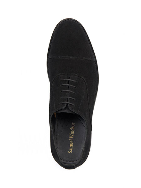 Classic Oxford Shoe - Black Suede
