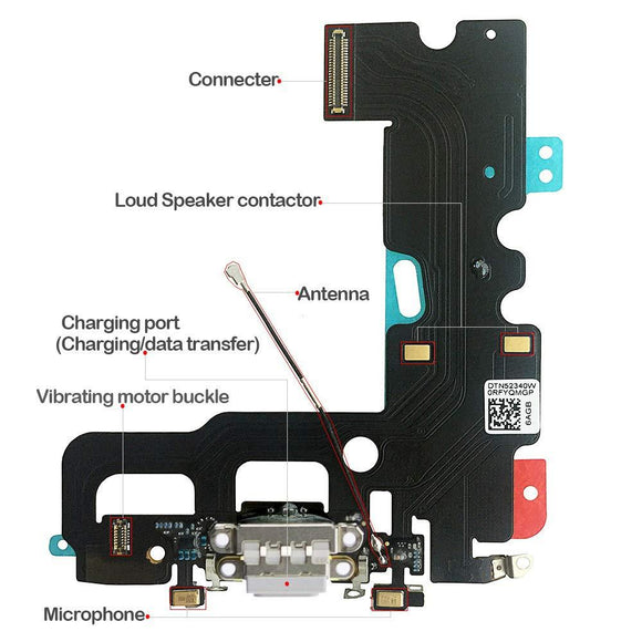Charging Port Dock Connector Flex Cable iPhone 7 4.7