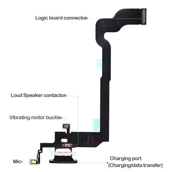 Charging Port Dock Connector Flex Cable + Microphone + Vibrating Motor iPhone X 5.8