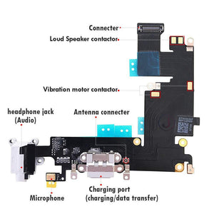 "Charging Port Dock Connector Flex Cable w/Microphone + Headphone Audio Jack Port iPhone 6 Plus 5.5"" iPhone Parts TexasWireless1"
