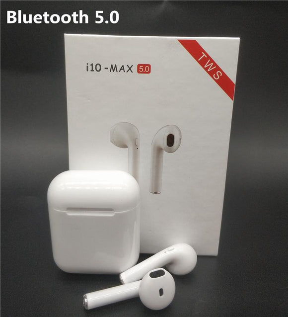 i10 TWS Wireless Bluetooth 5.0 Earphones True Stereo Headphones Earbuds Mic with Charging Box Ear-Phone TexasWireless1