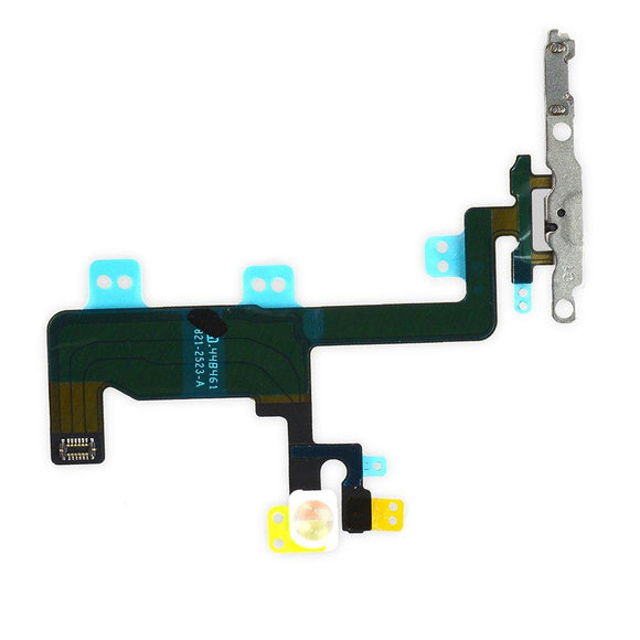 OEM Switch On/Off Power Button + Volume Control + Flash Light + Mic + Mute Connector Flex Cable w/Bracket Replacement Part for iPhone 6 4.7 iPhone Parts TexasWireless1