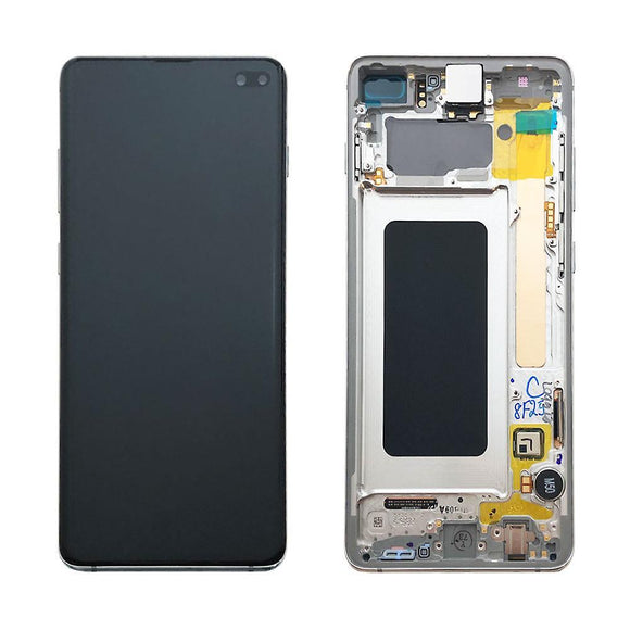 Samsung display LCD complete set GH82-18849 B white / Prism white for Galaxy S10 plus G975F 6.4 inch Samsung Parts TexasWireless1