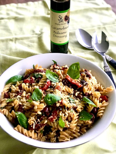 Warm Pasta Salad with Balsamic Dressing