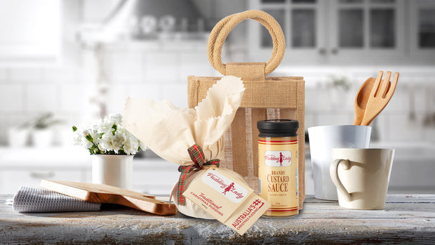 Gift Pack - Our Favourite Pudding and Sauce - In a Jute Gift Bag