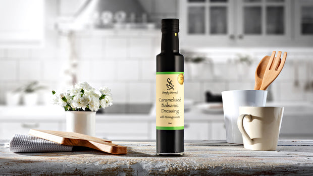 Simply Stirred - Caramelised Balsamic Dressing with Pomegranate 250ml Bottle