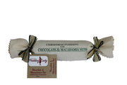Gift Pack - Mac Nut Magnificence - in Jute Bag - 800g Chocolate Macadamia Nut Log and 275g Spoonable Chocolate Sauce