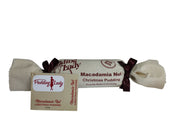 Macadamia Nut Christmas Pudding - Log in cloth