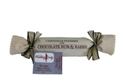 Chocolate Rum and Raisin Pudding 800g - Log in cloth