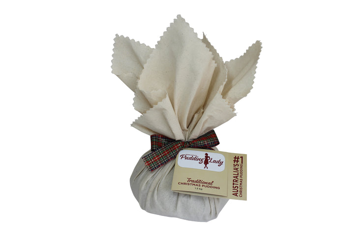 Traditional Christmas Pudding - Round in cloth 1.5kg