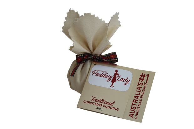 Traditional Christmas Pudding 350g - Round in cloth