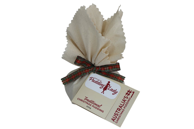 Traditional Christmas Pudding - Round in cloth 500g