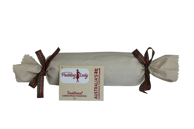Traditional Christmas Pudding 1kg - Log in cloth