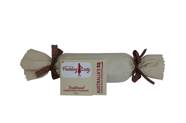 Traditional Christmas Pudding - Log in cloth
