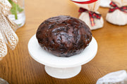 Gluten-free No Added Sugar Christmas Pudding - Round in cloth