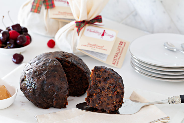 Gluten-free No Added Sugar Christmas Pudding 500g - Round in cloth