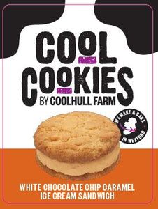 Coolhull Farm White Chocolate Chip Caramel Ice Cream Sandwich
