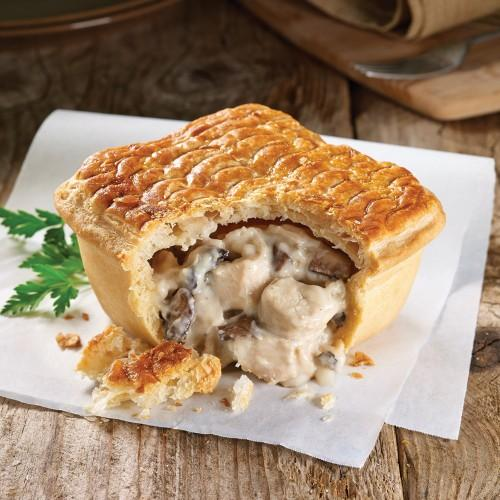 Wright's Large Chicken & Mushroom Pie 4 Pack