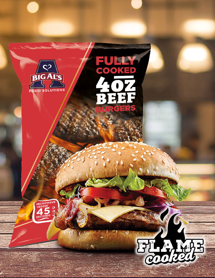 Big Al's Fully Cooked Beef Burger 4oz 24 Pack
