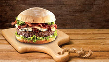 Load image into Gallery viewer, Big Al's Fully Cooked Beef Burger 6oz 16 Pack
