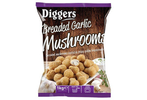 Diggers Garlic Breaded Mushrooms 1kg