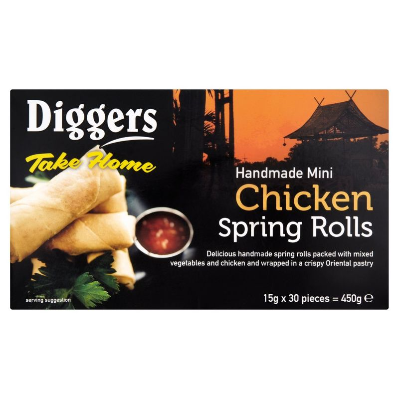Diggers Mini Chicken Spring Rolls 15g