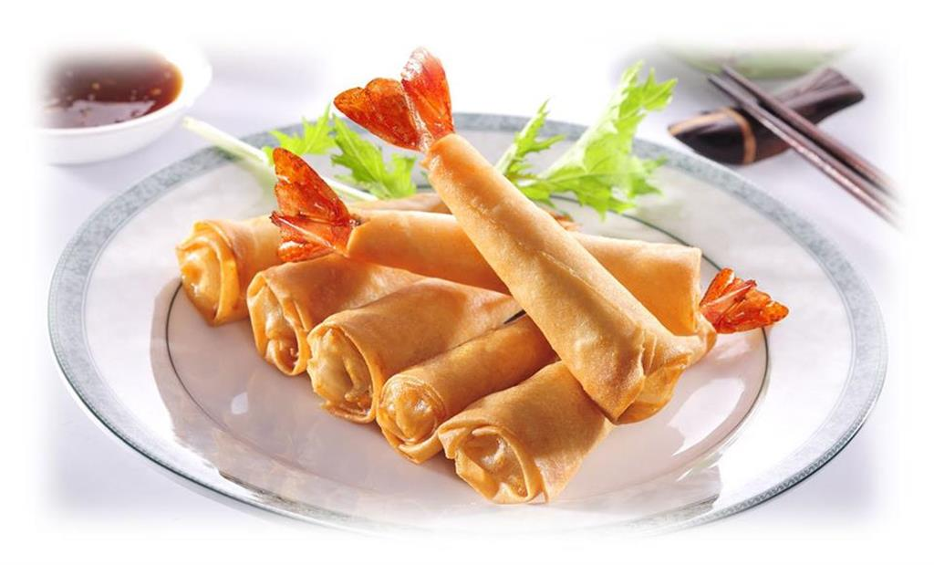 Filo Wrapped King Prawn Rolls