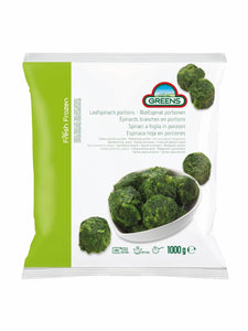 Greens Spinach Portions 1kg