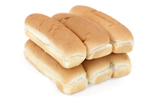 "Johnston Mooney & O'Brien 8.5"" Jumbo Hot Dog Rolls 6 Pack"